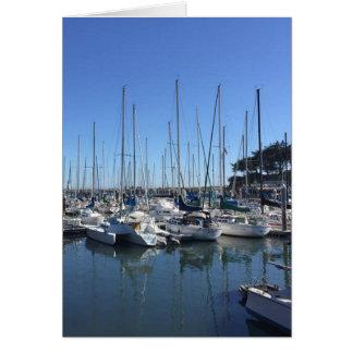 Puerto deportivo Santa Cruz California Tarjeta De Felicitación