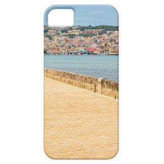 Puerto griego Argostoli de la ciudad con el camino Funda Para iPhone SE/5/5s