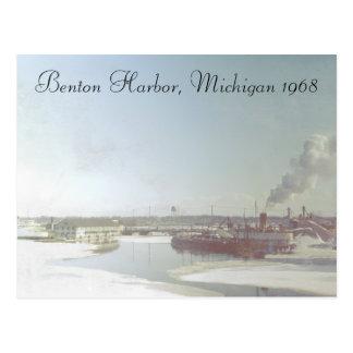 Puerto Michigan de Benton y río Tarjetas Postales