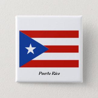 Puerto Rico botón del cuadrado de 2 pulgadas