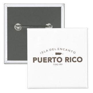 Puerto Rico Isla del Encanto Chapa Cuadrada 5 Cm