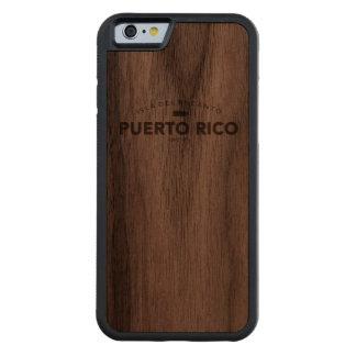 Puerto Rico Isla del Encanto Funda De iPhone 6 Bumper Nogal