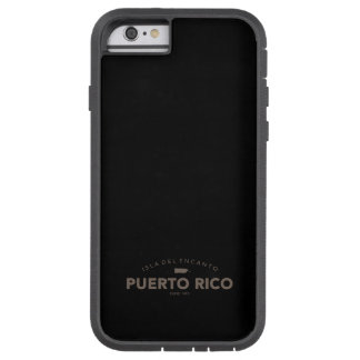 Puerto Rico, Isla del Encanto Map Funda De iPhone 6 Tough Xtreme