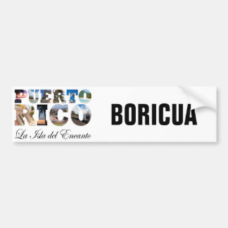 Puerto Rico La Isla Del Encanto Boricua Pegatina De Parachoque