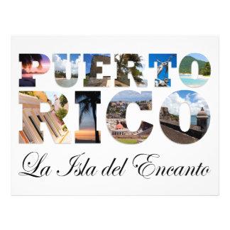 Puerto Rico La Isla Del Encanto Collage/montaje Flyer A Todo Color