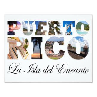 Puerto Rico La Isla Del Encanto Collage/montaje Invitación 10,8 X 13,9 Cm