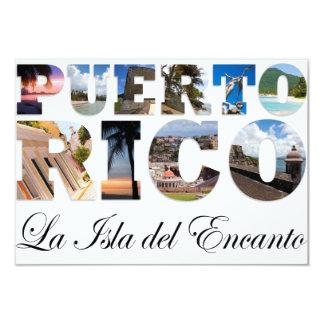 Puerto Rico La Isla Del Encanto Collage/montaje Invitación 8,9 X 12,7 Cm