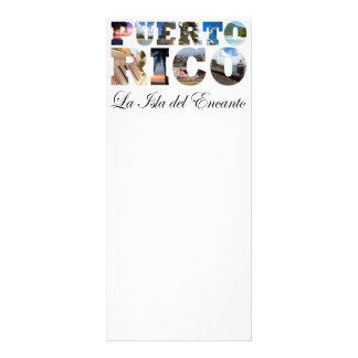 Puerto Rico La Isla Del Encanto Collage/montaje Tarjeta Publicitaria