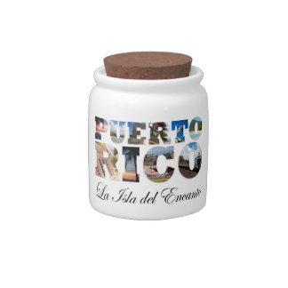 Puerto Rico La Isla Del Encanto Jarras Para Caramelos