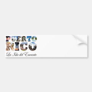 Puerto Rico La Isla Del Encanto Montage Pegatina De Parachoque