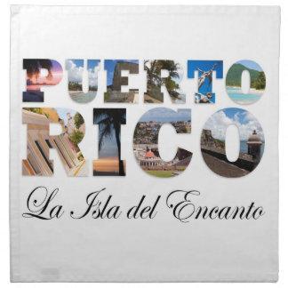 Puerto Rico La Isla Del Encanto Servilleta De Papel