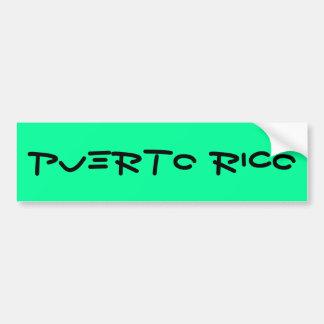 Puerto Rico Pegatina Para Coche