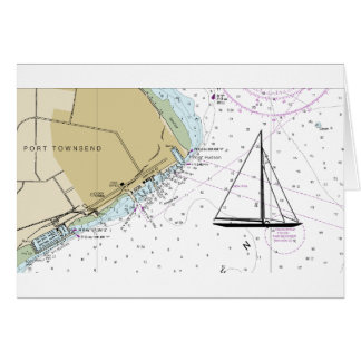 Puerto Townsend que navega la tarjeta náutica de