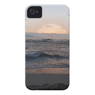 Puesta del sol 2014a.png de La Jolla iPhone 4 Carcasas