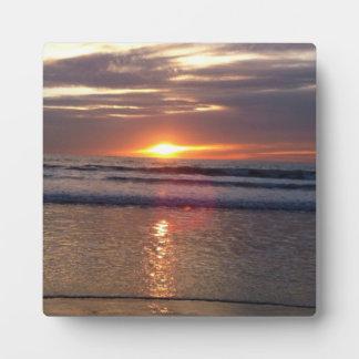 Puesta del sol 2 de Marina Del Rey Placas Con Foto