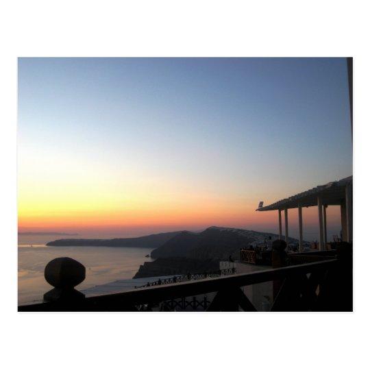 Puesta del sol 2 de Santorini Postal