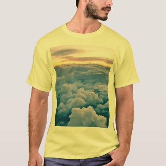 Puesta del sol aérea camiseta