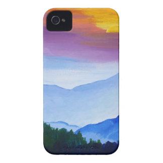 puesta del sol ahumada del mtn funda para iPhone 4 de Case-Mate