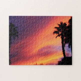 Puesta del sol ardiente puzzle