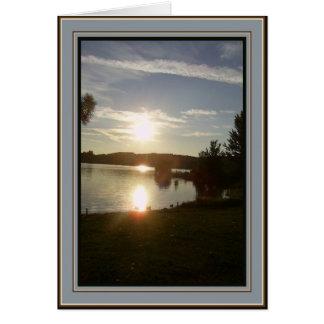 Puesta del sol canadiense - adiós tarjeta de felicitación