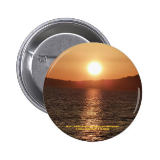 Puesta del sol chapa redonda de 5 cm