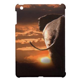 Puesta del sol con el elefante