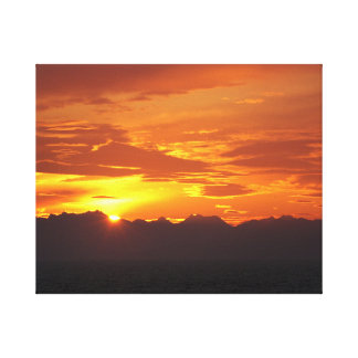 Puesta del sol de Alaska Impresiones En Lona