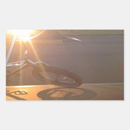 Puesta del sol de BMX Rectangular Altavoz