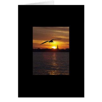 Puesta del sol de Charleston Tarjeta De Felicitación