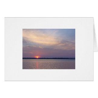 Puesta del sol de Charleston Tarjeta Pequeña