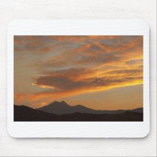 Puesta del sol de Front Range de la montaña rocosa Alfombrilla De Ratón