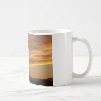 Puesta del sol de Front Range de la montaña rocosa Tazas De Café