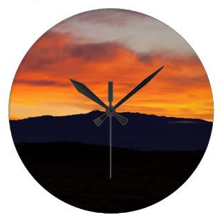Puesta del sol de Hualalai Reloj Redondo Grande
