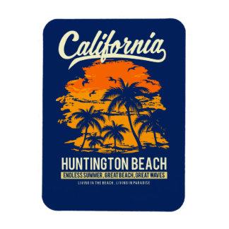 Puesta del sol de Huntington Beach California Iman