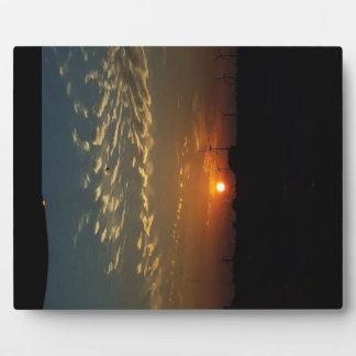 Puesta del sol de Kansas Placa Expositora