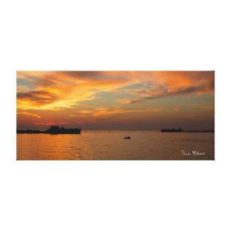 Puesta del sol de Kiptopeke Lienzo Envuelto Para Galerías