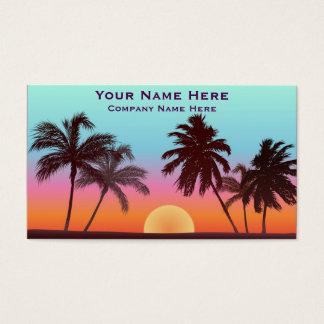Puesta del sol de la Florida Tarjeta De Visita
