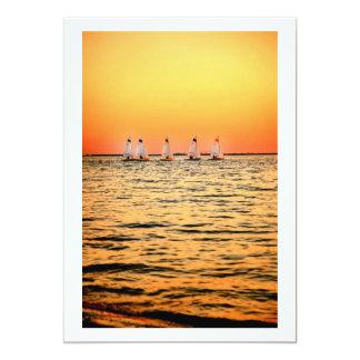 Puesta del sol de la isla de Davis de los barcos Anuncios Personalizados