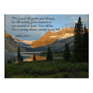 Puesta del sol de la montaña del 58:11 de Isaías Postal