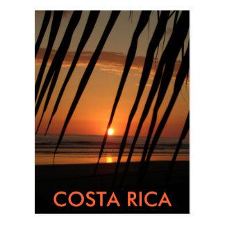 Puesta del sol de la palma de la postal, COSTA Postal