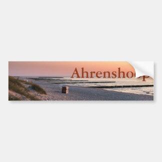 Puesta del sol de la playa de Ahrenshoop Pegatina Para Coche