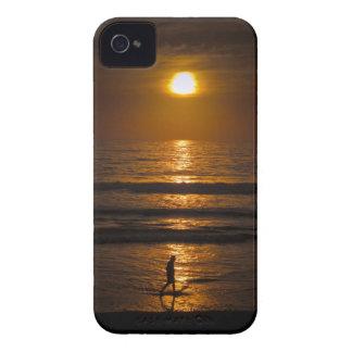 Puesta del sol de la playa de California Funda Para iPhone 4 De Case-Mate