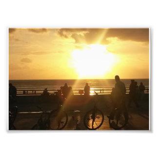 Puesta del sol de la playa foto