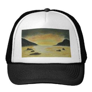 Puesta del sol de la playa gorras de camionero