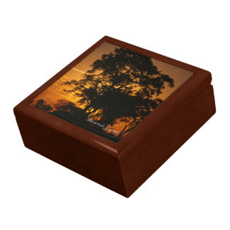 Puesta del sol de la sabana caja de regalo