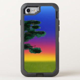 Puesta del sol de la sabana por los Happy Juul Funda OtterBox Defender Para iPhone 8/7