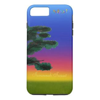 Puesta del sol de la sabana por los Happy Juul Funda Para iPhone 8 Plus/7 Plus