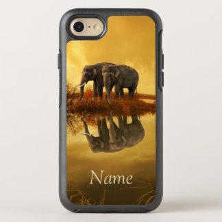 Puesta del sol de los elefantes funda OtterBox symmetry para iPhone 7