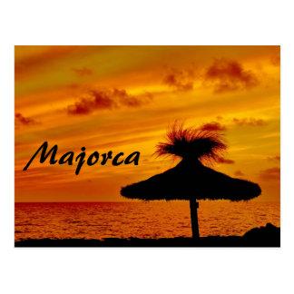 Puesta del sol de Majorca - postal