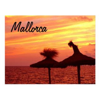 Puesta del sol de Mallorca - postal